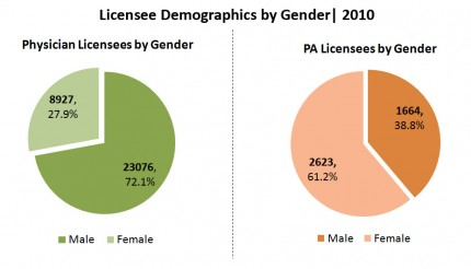 Licensee Demographics by Gender
