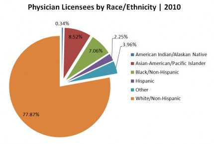 Physician Licensees by Race/Ethnicity